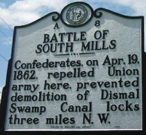 Battle of South Mills Historical Marker.jpg