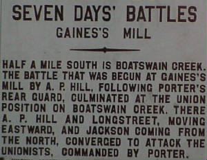 Battle of Boatswain Creek & Gaines Mill.jpg