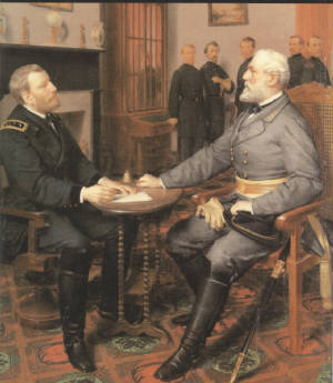 General Grant and Lee Surrender Meeting.jpg