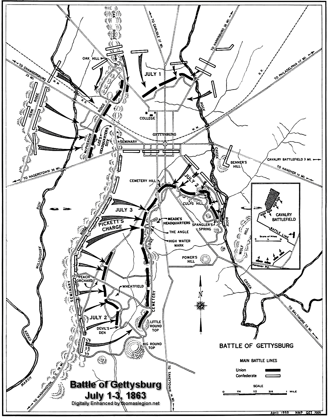 Civil War Battle of Gettysburg Map.gif