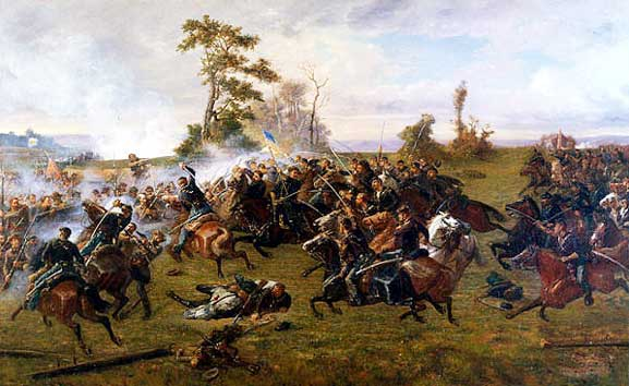 The Battle of Five Forks Oil Painting.jpg