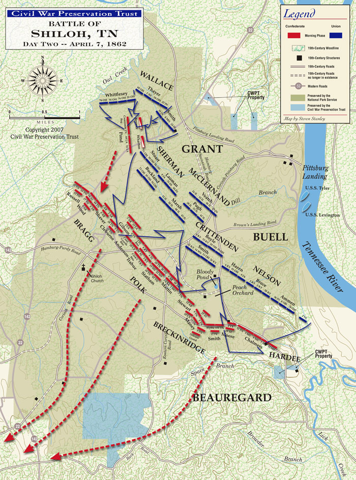 Civil War Battle of Shiloh Second Day Map.jpg