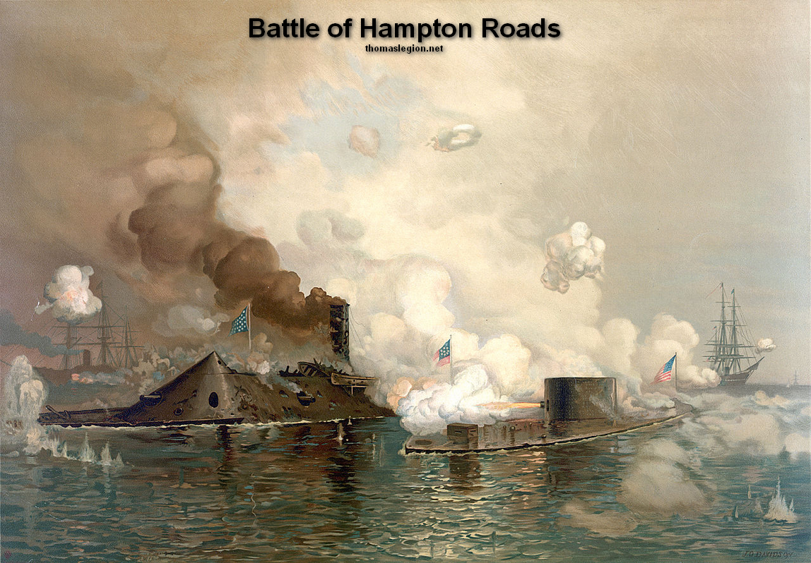 Monitor, Merrimack, Battle of Hampton Roads.jpg