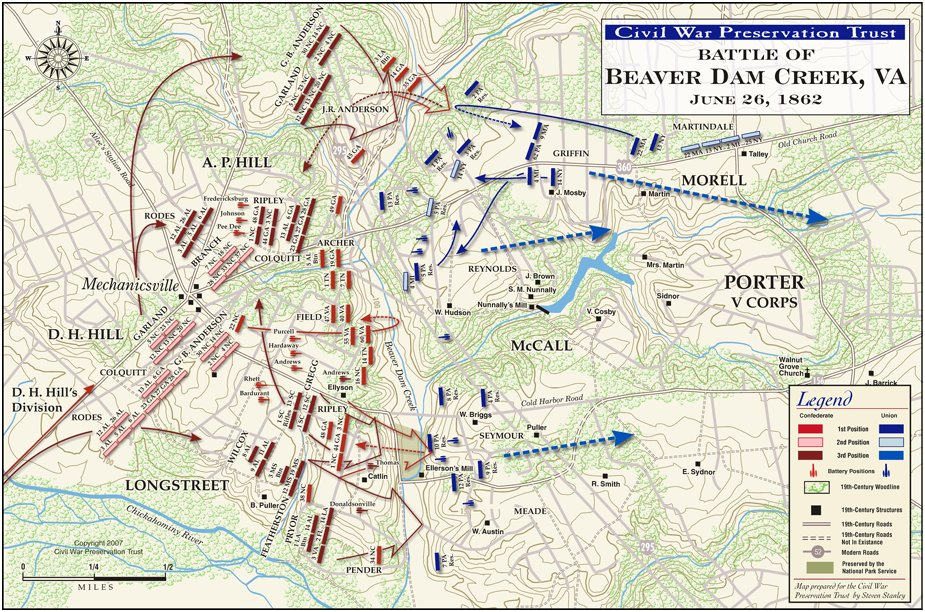 Battle Mechanicsville Virginia Battlefield Map.jpg
