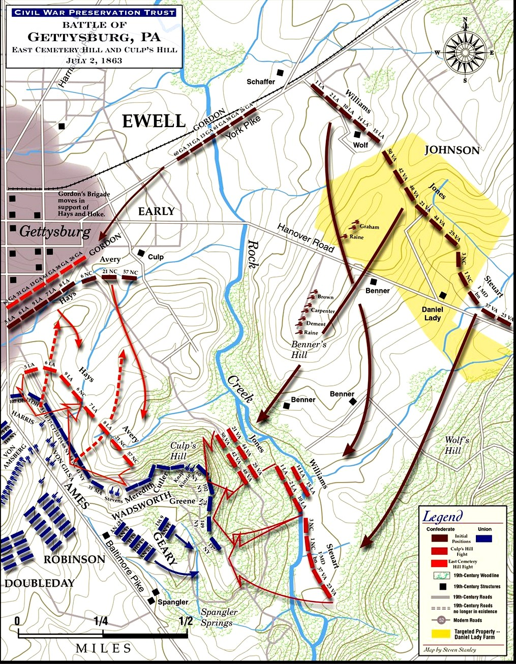 East Cemetery and Culp's Hill Battlefield Map.jpg