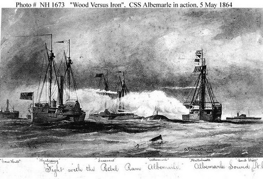 CSS Albemarle engaging Federal gunboats.jpg