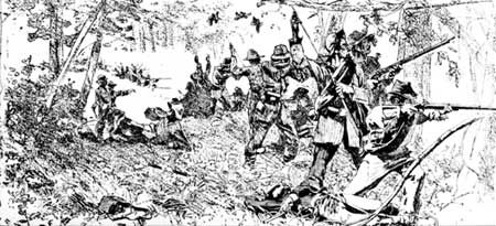 Confederate line of battle in chickamauga.jpg