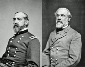 Commanding generals Meade and Lee.jpg
