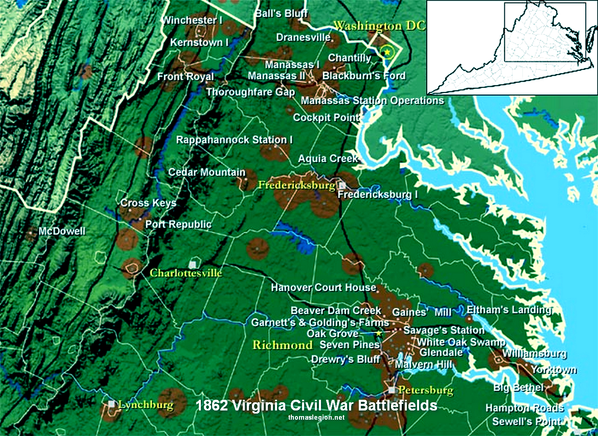 Virginia Civil War Battlefields in 1862.jpg