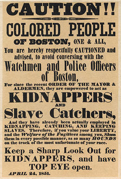 Fugitive Slave Law Poster in 1851 Boston.jpg