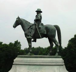 Statue of Grant astride his favorite horse.jpg