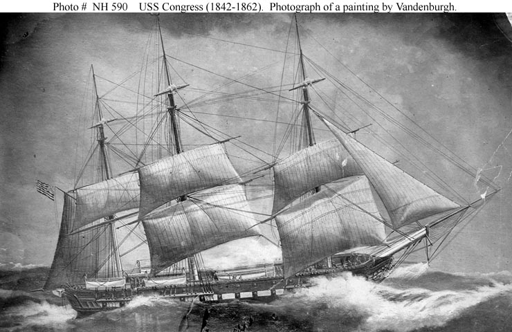 Photograph of a Painting of the USS Congress.jpg