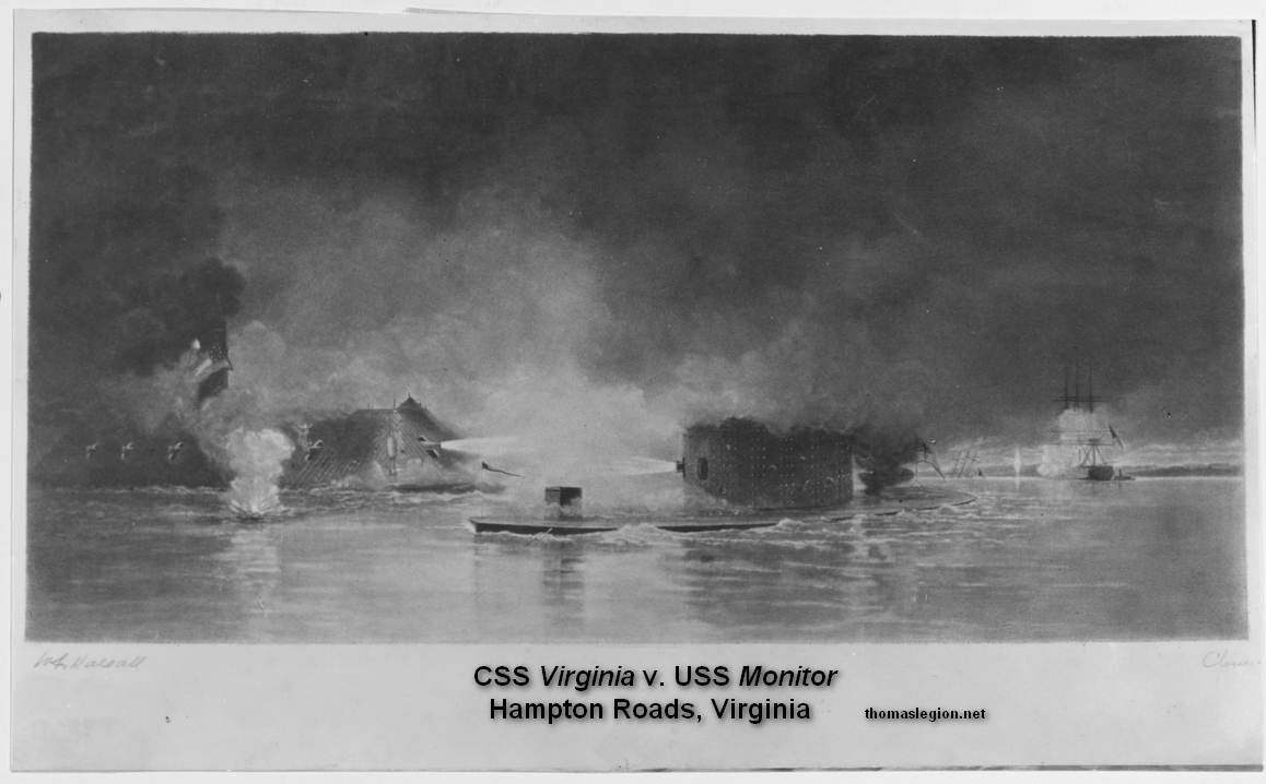 Battle of the Ironclads Monitor and Virginia.jpg