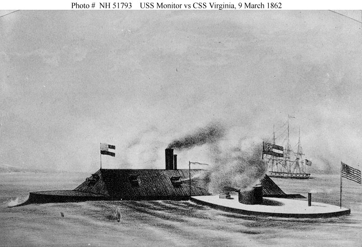 CSS Virginia USS Monitor in Action.jpg